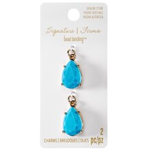 Signature Color Shop Turquoise Teardrop Charms By Bead Landing