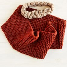 Lion Brand® Wool-Ease® Thick & Quick® Knit Level 1 Cowl, medium