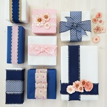 Trellis Ribbon-Wrapped Gift Boxes, medium