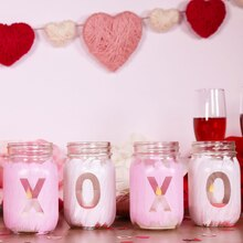XOXO Mason Jars, medium