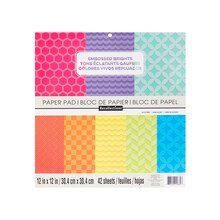 Embossed Brights Paper Pad By Recollections