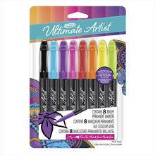 RoseArt Ultimate Artist Bright Permanent Markers, 8 Pieces