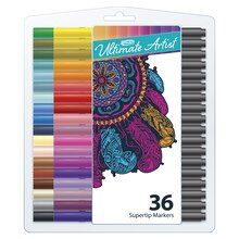 RoseArt Ultimate Artist Supertip Markers, 36 Pieces