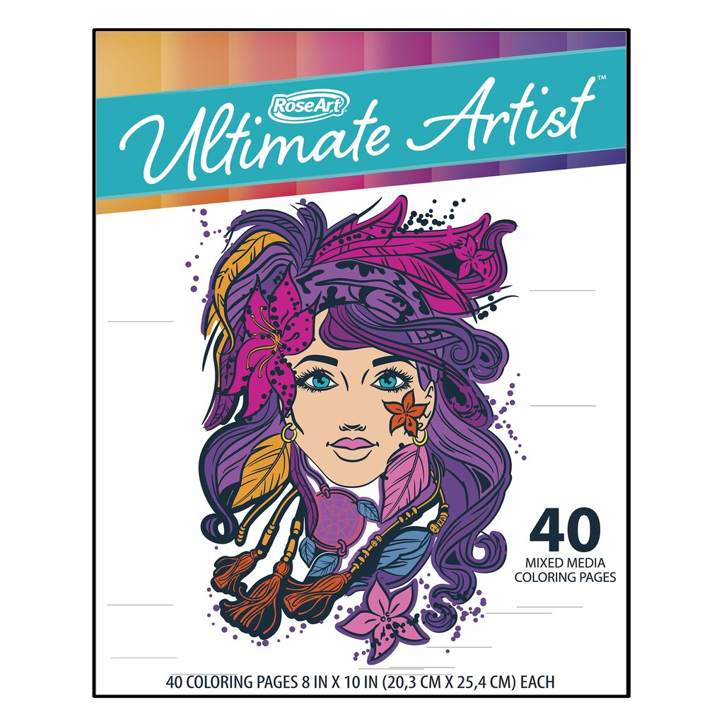 buy the roseart ultimate artist coloring pad portfolio at michaels - Michaels Coloring Books