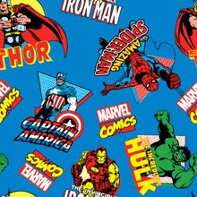 Marvel Comics Character Toss Minky Fleece Fabric