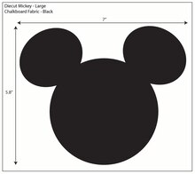 Disney Mickey Large Ears Adhesive Chalkboard Fabric Pack of 6