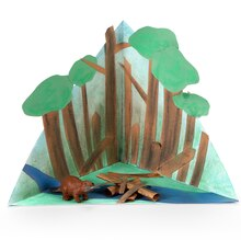 Kids Club® Spring Mini Beaver Habitat Triorama, medium