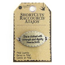 Blue Moon Beads ShortCuts Metal Connector Charm, Proverbs 31:25