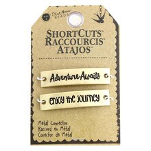 Blue Moon Beads ShortCuts Metal Connector Charms, Antique Gold Finish