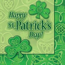 Clover St. Patrick's Day Beverage Napkins, 24ct