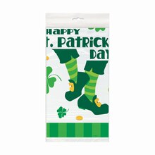 Plastic St. Patrick's Day Jig Tablecloth