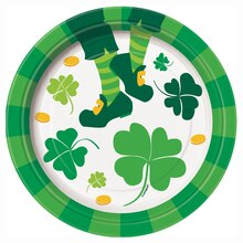 "7"" St. Patrick's Day Jig Party Plates, 8ct"