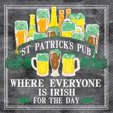 St. Patrick's Day Pub Cocktail Napkins, 16ct