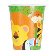 9oz Animal Safari Paper Cups, 8ct