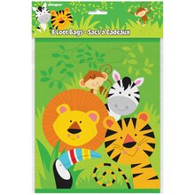 Animal Safari Goodie Bags, 8ct Package