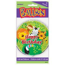 "Foil Animal Safari Balloon, 18"" Package"