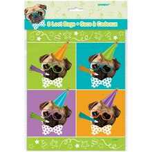 Pug Puppy Party Goodie Bags, 8ct Pacakge