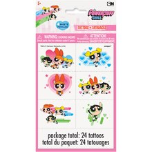 Powerpuff Girls Tattoos, Assorted 24ct