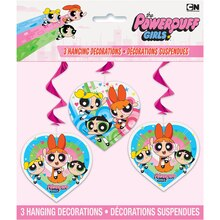 Hanging Powerpuff Girls Decorations, 3ct Package