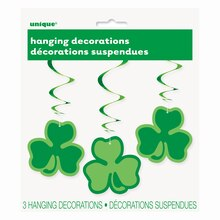 Hanging Clover St. Patrick's Day Decorations, 3ct Package