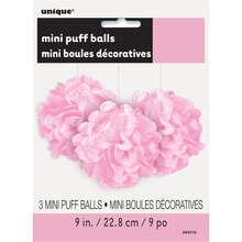 "9"" Light Pink Tissue Paper Pom Poms, 3ct Package"