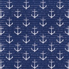 Navy & White Anchors Scrapbook Paper By Recollections