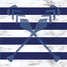 Navy Striped Oars Scrapbook Paper By Recollections