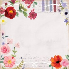 Floral Palette Scrapbook Paper By Recollections