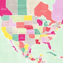 North America Map Paper By Recollections