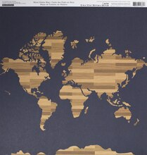 Wood States Map Scrapbook Paper By Recollections