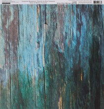 Turquoise Wood Planks Scrapbook Paper By Recollections