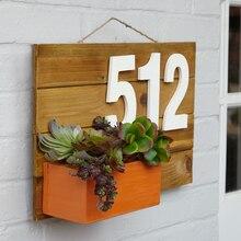 Succulent Address Plaque, medium