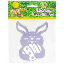 "5"" Mini Paper Cutout Easter Bunny Decorations, 10ct Package"