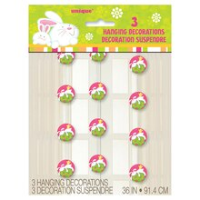 Hanging Bunny Pals Easter Decorations, 3ct Package