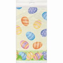 "Plastic Spring Easter Tablecloth, 84"" x 54"""