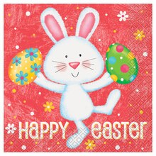 Happy Easter Bunny Luncheon Napkins, 20ct