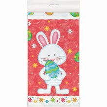 "Plastic Happy Easter Bunny Tablecloth, 84"" x 54"" Package"