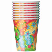 9oz Happy Easter Bunny Paper Cups, 8ct