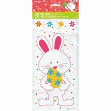 Happy Easter Bunny Cellophane Bags, 20ct Package