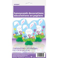 "Mini 8"" Easter Bunny Centerpiece Decorations, Package"