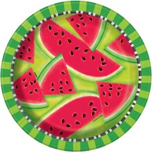 "9"" Watermelon Summer Party Plates, 8ct"