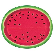 Oval Watermelon Summer Dinner Plates, 8ct