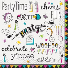 Doodle Happy Birthday Beverage Napkins, 16ct