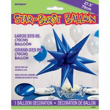 "27"" Large Foil 12 Point Royal Blue Star Balloon"