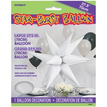 "27"" Large Foil 12 Point White Star Balloon"