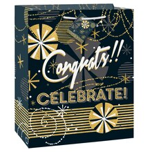Jazzy Black And Gold Congratulations Gift Bag