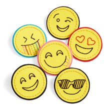 Paper Embroidered Emoji Buttons, medium