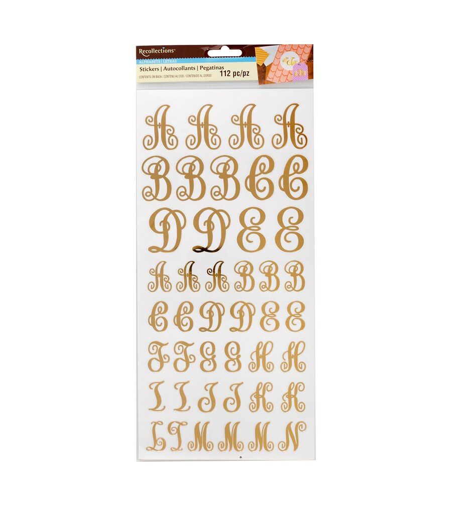 Michaels letter stickers kamos sticker for Michaels stick on letters