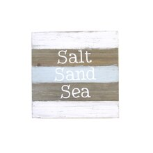 Salt Sand Sea Planked Wall Art Plaque By Studio Decor