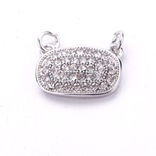 Signature Color Shop Small Silver Oval Connector By Bead Landing